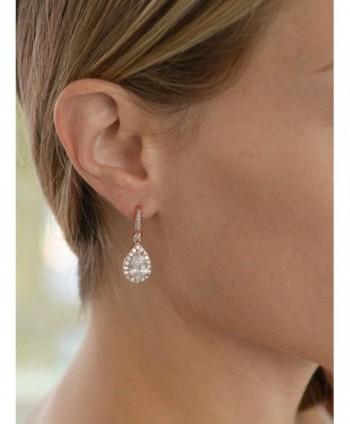 Mariell Plated Zirconia Bridal Earrings in Women's Drop & Dangle Earrings