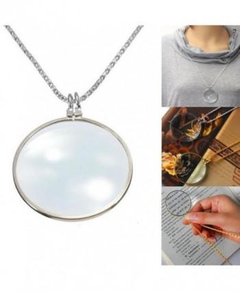 WensLTD Magnifier Pendant Necklace Decorativ in Women's Choker Necklaces