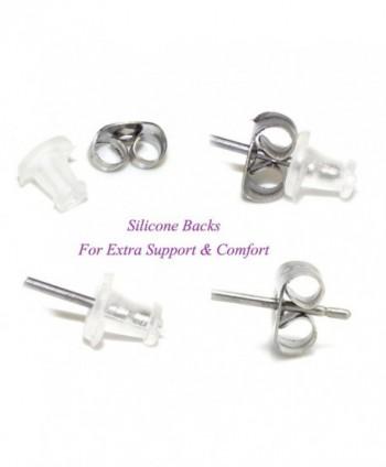 Sterling Silver Print Earrings 21170 in Women's Stud Earrings