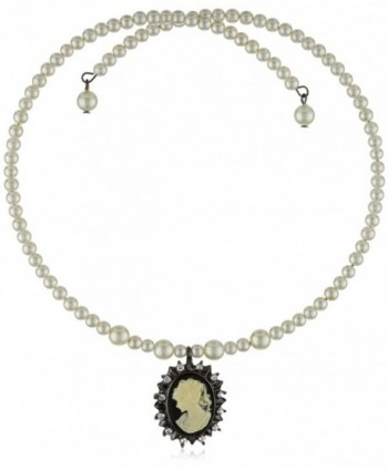 1928 Jewelry Kimberly's Cameos Coil Choker - C4111XB7ZTV