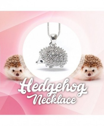 Lola Bella Gifts Hedgehog Necklace in Women's Pendants