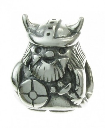 925 Sterling Silver Viking Pirate Bead For European Charm Bracelets - CA126QVBRKF