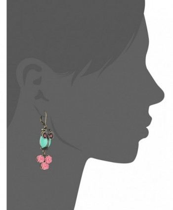 ccc04b1302b0f Women's Pet Shop Vintage Owl Non-Matching Earrings Blue/Pink Drop Earrings  - CB11LUQB1EJ