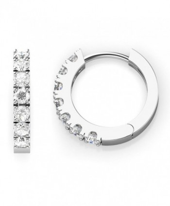 925 Sterling Silver Round CZ Cubic Zirconia Huggie Hoop Earrings - C5127OKS47V
