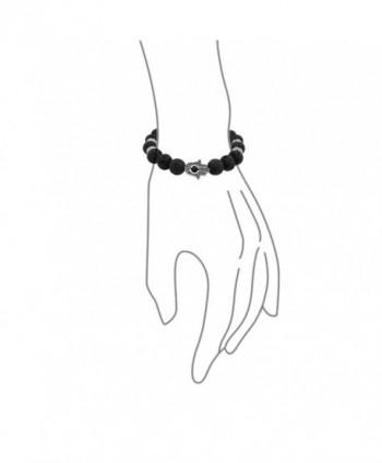 Hamsa Stretch Beads Energy Bracelet