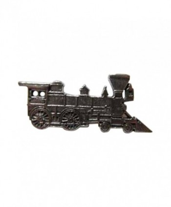 Creative Pewter Designs- Pewter Train Engine Lapel Pin Brooch- Antiqued Finish- A245 - CY122XIDCJJ