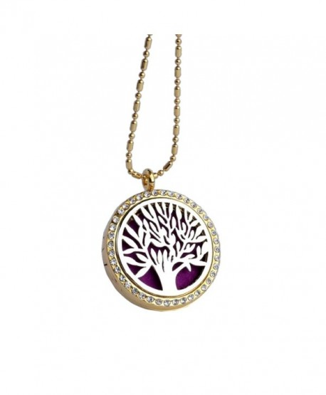 Aromatherapy Essential Oils Diffuser Magnetic 30mm Locket Pendant Necklace - CS12O07NBIH