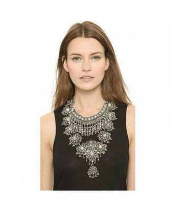 Zhenhui Statement Necklace Bohemian Accessories - Black - CL124E9QG57