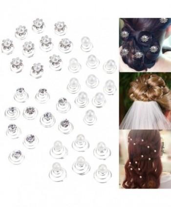 36 Spirals Hair Pins / Twists / Coils / Curlies / Weddings Brides Hairstyles / Proms / Balls Decorations - C4127ZJIWEV