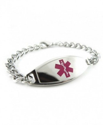 MyIDDr - Pre-Engraved & Customized Hypoglycemia Medical ID Bracelet- Purple - CW119I8GQW3