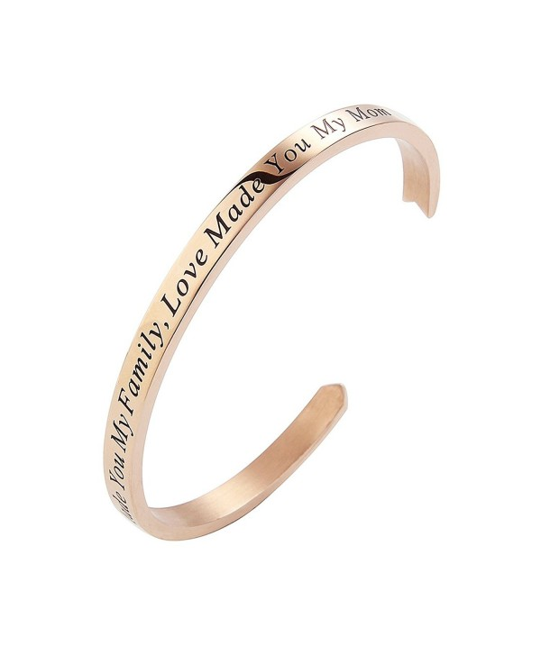 Meibai Stamped Stainless Keepsake Gold Marriage - Rose Gold-Marriage Made You My Family Love Made You My Mom - CG183N7OQLY