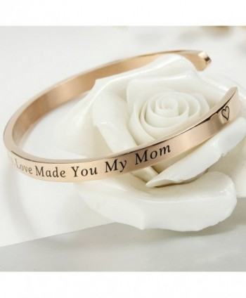 Meibai Stamped Stainless Keepsake Gold Marriage in Women's Cuff Bracelets