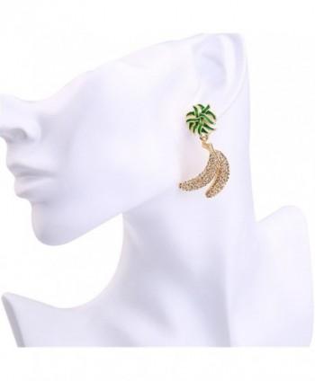 Dot Line crystal banana earrings in Women's Hoop Earrings