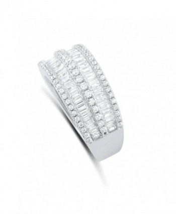 Sterling Simulated Diamond Baguette Statement