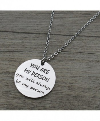 Person Friends Stainless Pendant Necklace