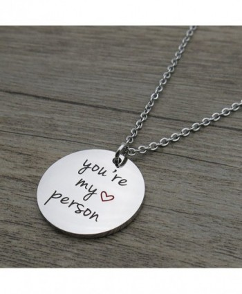 Person Friends Stainless Pendant Necklace in Women's Pendants