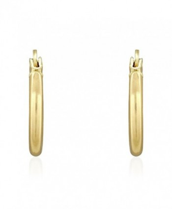 Yellow Thick Polished Plain Earrings