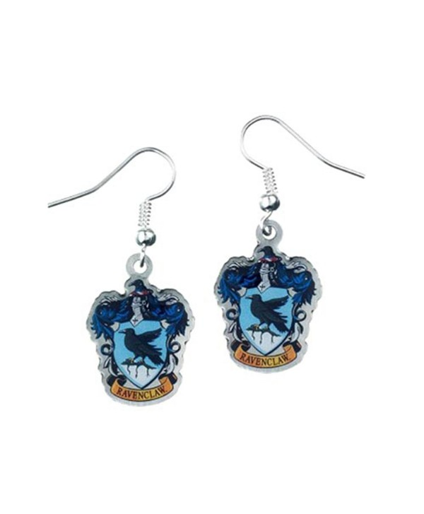 Official Harry Potter Silver Plated Ravenclaw Crest Drop Earrings on Harry Potter Card - CQ12EZISDDP