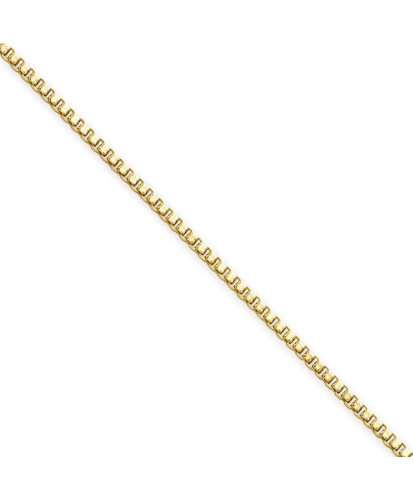 """1.5mm Gold-Tone Stainless Steel Box Chain (18"""" 24"""") - CC11CCZXPLT"""
