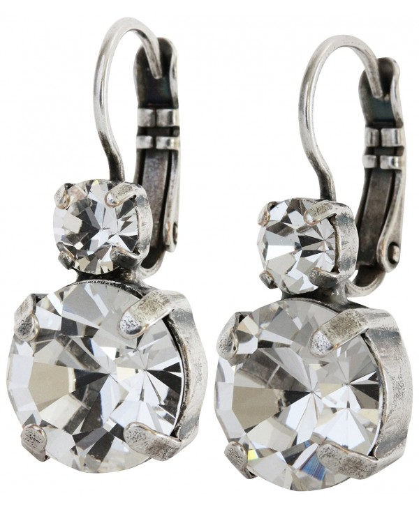 """Mariana Silvertone Double Drop Medium Crystal Earrings- """"On A Clear Day"""" 1037 001001 - C9124ND5SO9"""