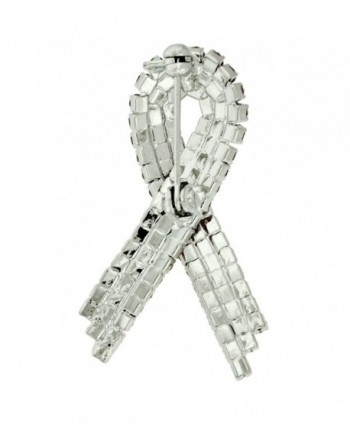 PinMarts Rhinestone Crystal Awareness Ribbon