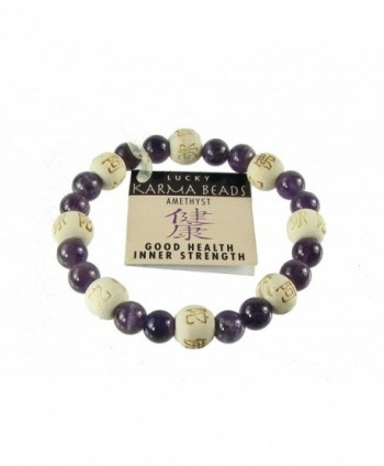 Zorbitz Inc. - Lucky Karma Bracelet with Amethyst for Good Health / Inner Strength - CG113WAZCXB