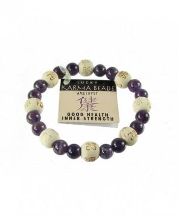 Zorbitz Inc. - Lucky Karma Bracelet with Amethyst for Good Health / Inner Strength - CG113WAZCXB