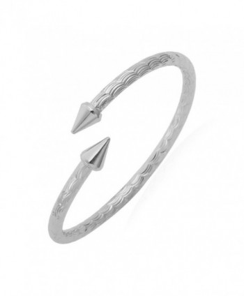 U7 Unisex Arrow Fancy Bracelets Platinum/18K Gold Plated Solid Bangle Cuff Bracelet - platinum - CS11T0EW8Y5
