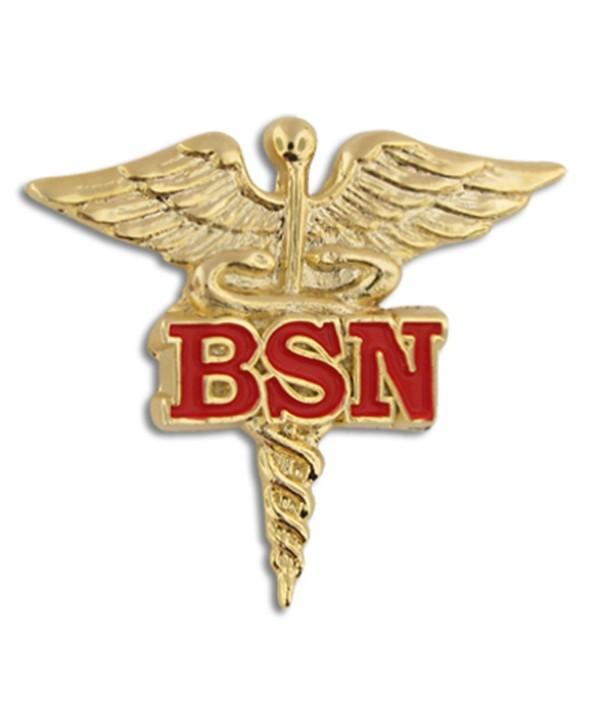 PinMart's Bachelor of Science Nursing Red BSN Caduceus Lapel Pin - CH11KV449PJ