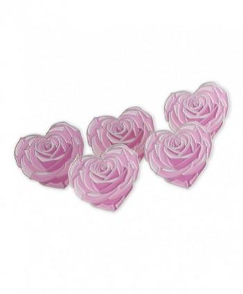 Heart Shaped Flower Enamel Lapel