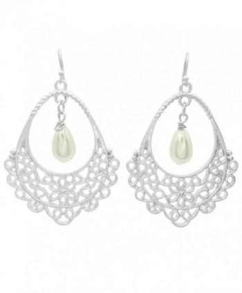 Filigree Teardrop Boutique Style Dangle Earrings - CH180TTNXDY