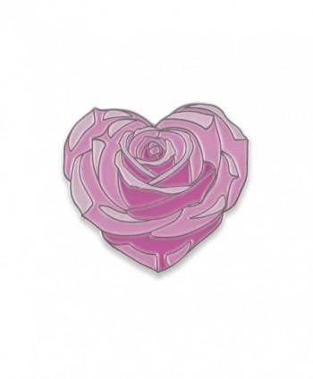 Heart Shaped Flower Enamel Lapel in Women's Brooches & Pins