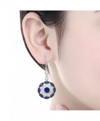 Merthus Sapphire Statement Earrings Sterling