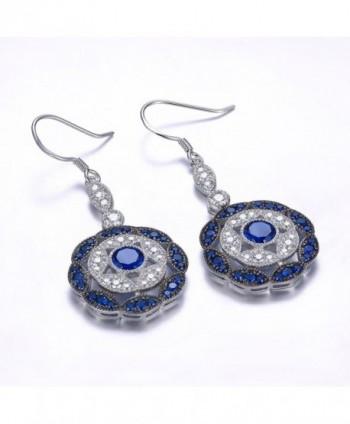 Merthus Sapphire Statement Earrings Sterling in Women's Drop & Dangle Earrings
