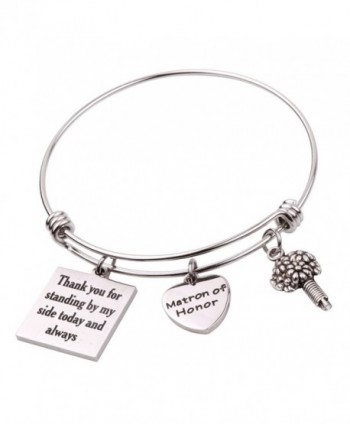 Matron of Honor Gift Matron of honor Jewellery Bridesmaid bracelet - Matron of Honor Bracelet - C2189WLTLAY