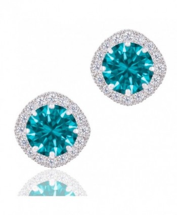 ORROUS CO Legacy Collection Zirconia - 18k White Gold Plated - Aquamarine - CD125KQJ3PN