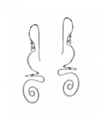 Intricate Abstract Swirls Sterling Earrings