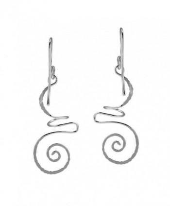 Intricate Abstract Swirls Sterling Earrings in Women's Drop & Dangle Earrings