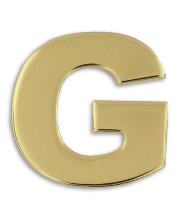 PinMart's Gold Plated Alphabet Letter G Lapel Pin - C4119PEMBYR