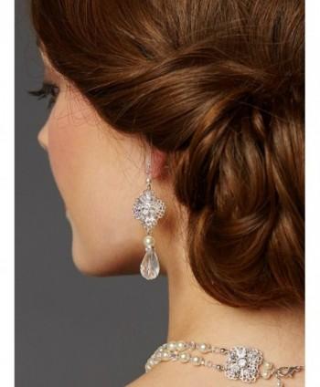 Mariell Vintage Crystal Wedding Earrings