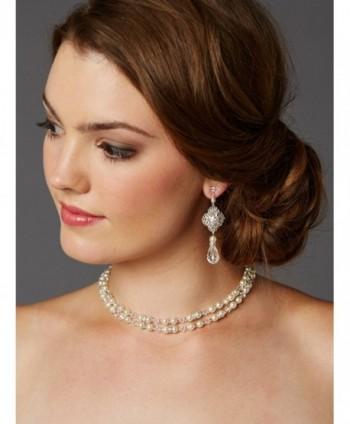 Mariell Vintage Crystal Wedding Earrings in Women's Drop & Dangle Earrings