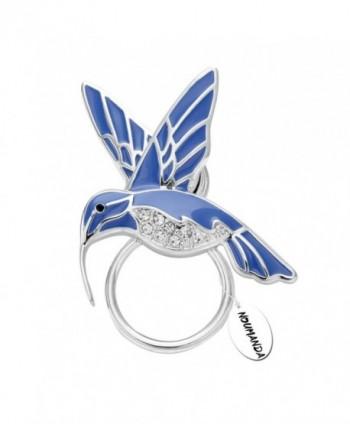 NOUMANDA Nature Jewelry Enamel Hummingbird Magnetic Eyeglass Holder Emerald Bird Magnetic Brooch - CL12JCHO9LT