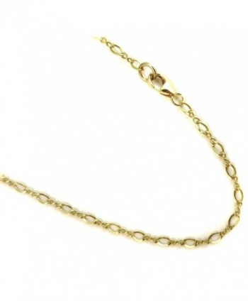 14k Gold Filled(1/20 of 14k) Necklace. 2.3mm Flat Link Chain. 14 to 36 inches - C511TIYYS1X