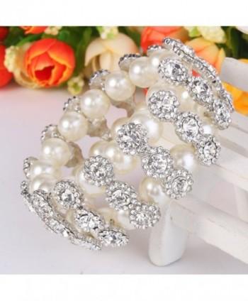 EVER FAITH Simulated Bracelet Silver Tone in Women's Stretch Bracelets