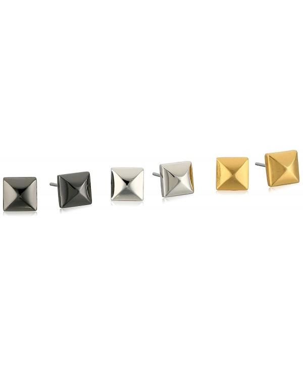 Nicole Miller Triple Metal Stud Earrings - CN17YLL4CI6