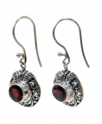 NOVICA Sterling Earrings Scarlet Ladybug
