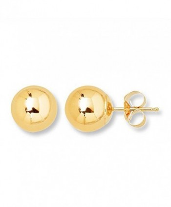 10K Yellow Gold Ball Stud Earring - CW12GSH3JP3