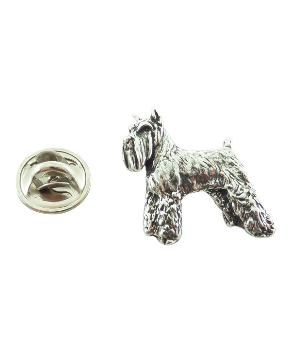 Creative Pewter Designs- Pewter Schnauzer Mini Pin- Antiqued Finish- D458MP - CY127C091CF