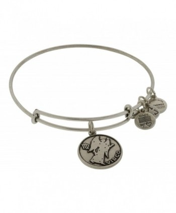 Alex and Ani Women's Virgo Charm Bangle Rafaelian Silver Finish - CQ11FQ2VMKL