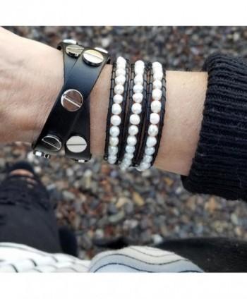 Aobei Cultured Freshwater Bracelet Leather